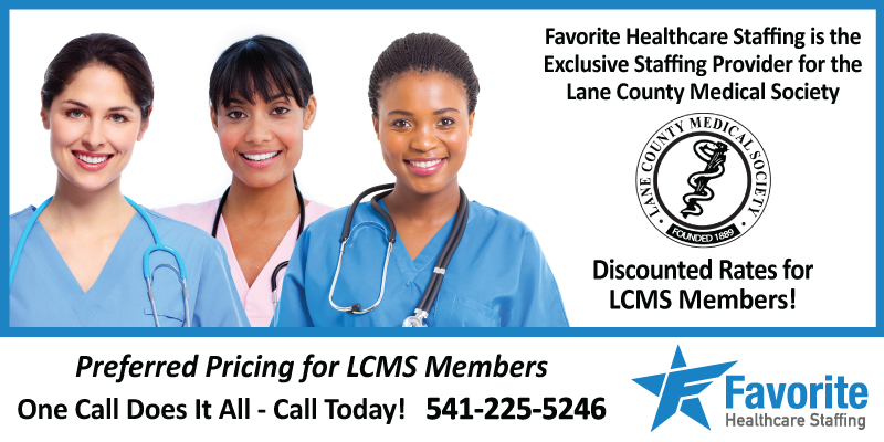Favorite Healthcare Exclusive Staffing Provider for Lane County Medical Society